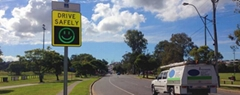 Radar speed sign.