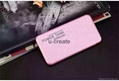 Ultra-thin mobile power bank battery charger for iPhone, Samsung