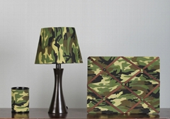 3 Pcs Polyresin Camouflage Desk set