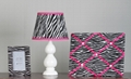 3 Pcs Polyresin Zebra Look Desk set