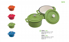 Color mini cast iron casserole pots