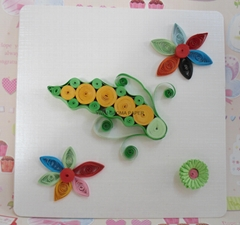 Direct manufacturers quilling card DIY cards peas