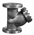Stainless steel flange y strainer 150lb