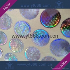 Customized security laser hologram label