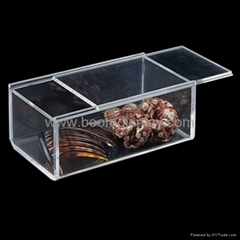 Transparent Acrylic Box with Sliding Lid