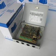 12V120W9路电源箱