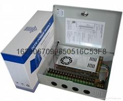 18路12V25A300W安防监控电源箱