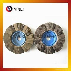 4'' abrasive flower flap disc-special shape flap disc