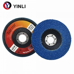 4''*5/8''Abrasive Zirconia flap disc grit 80 for stainless steel