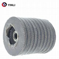 4''*5/8''Abrasive Clacined aluminia flap disc grit 80 for metal