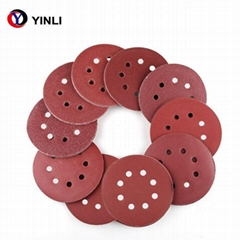 High Efficient Abrasive 5in Aluminium Oxide Sand Paper Disc