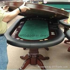 96'' solid wood poker dining table