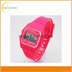 cheap promotional gift plastic digital watches