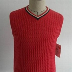 Fashion Men Cashmere Sweater Vest