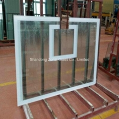 Popular Basketball Stand Tempered Silk Glass for School