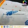 100% cotton printed muslin baby cloth fabric