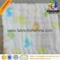 100% cotton printed muslin baby cloth fabric 2