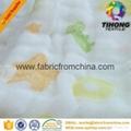 100% cotton printed muslin baby cloth fabric 3