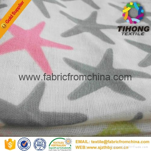 100% cotton printed muslin baby cloth fabric 4