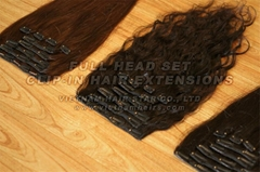 Best selling Vietnamese clip-in hair extensions with 100% remy hair
