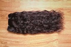 Wholesale price Vietnamese wavy/curly machine weft hair 2016