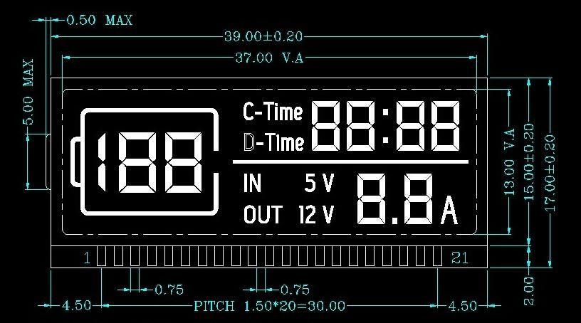 帶汽車應急啟動點火功能的移動電源LCD液晶顯示屏 1