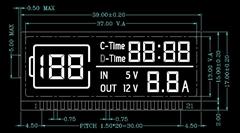 帶汽車應急啟動點火功能的移動電源LCD液晶顯示屏