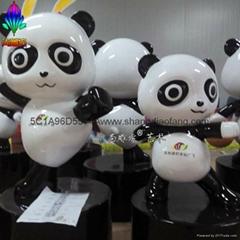 卡通熊貓玻璃鋼雕塑
