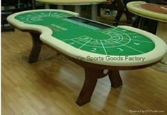 10ft solid wood baccarat table