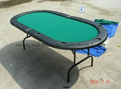 stainless steel foldable poker table
