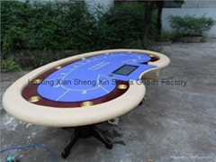 84'' solid wood poker table