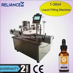 1 Oz amber glass dropper bottle filling labeling machine for e-liquid oil
