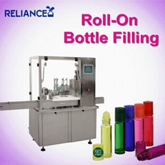 10ml perfume roll on glass bottle filling labeling machine