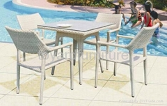 Outdoor Resort Hotel Leisure Garden Furniture Set Patio  Wicker Chair