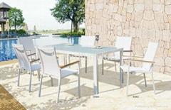 欧洲现代风格户外阳台休闲桌椅