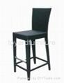 戶外餐廳酒吧傢具柚木實木高腳吧椅 3