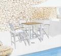 户外餐厅酒吧家具柚木实木高脚吧