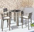 戶外餐廳酒吧傢具柚木實木高腳吧椅 2