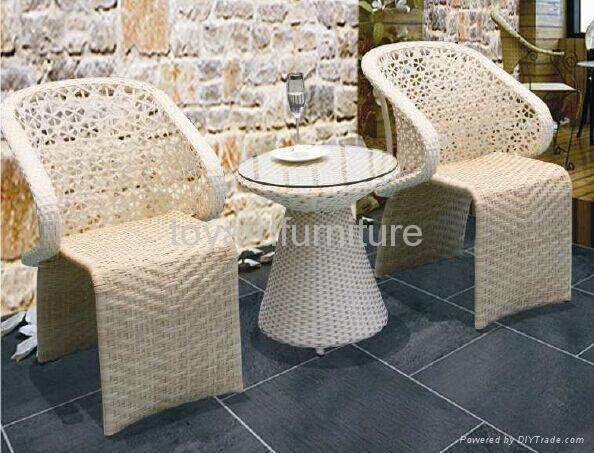 欧式流行风格户外庭院花园家具编藤休闲椅 3