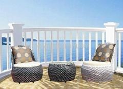 欧式流行风格户外庭院花园家具编藤休闲椅