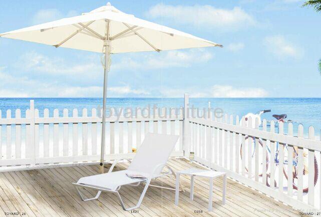 度假村酒店别墅沙滩泳池户外休闲家具特斯林沙滩泳池躺椅懒人椅 2