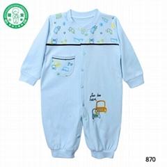 Newborn 100% cotton long sleeve baby romper suits baby boy onesie