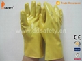 Yellow PVC glove-DPV103