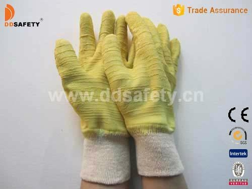 Cotton with yellow latex glove-DCL410 1
