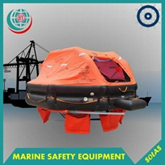 SOLAS approved throwing type inflatable life raft