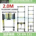 2m Single Telescopic ladder