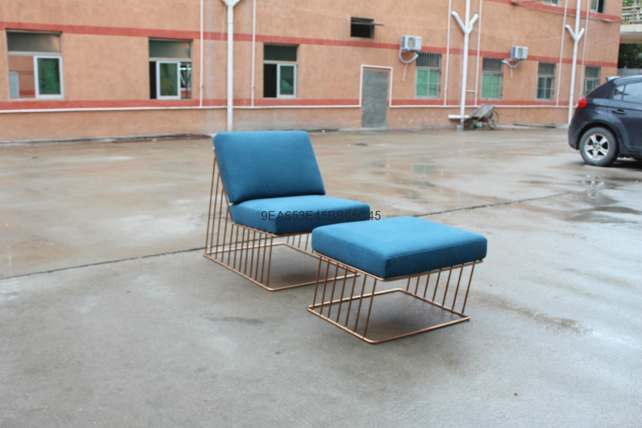 Wired Italic Lounge Chair & Ottoman 時尚造型椅 4