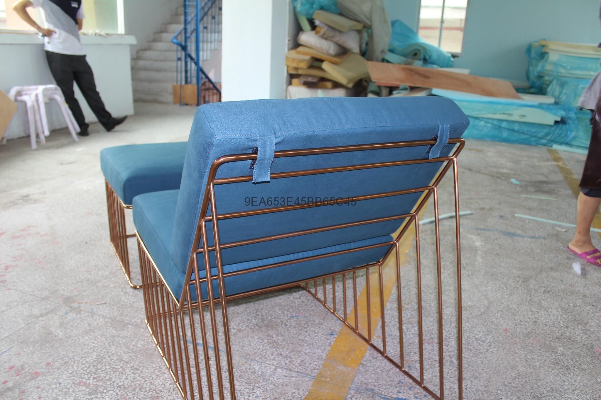 Wired Italic Lounge Chair & Ottoman 時尚造型椅 3