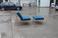 Wired Italic Lounge Chair & Ottoman 时尚造型椅