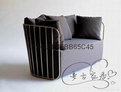 Bride's Veil Love sofa 新娘沙发 两人位不锈网家具